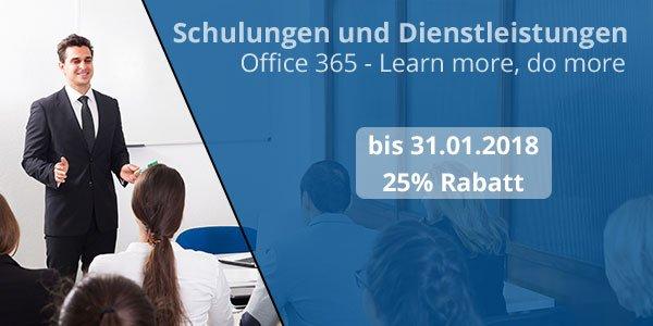 Schulungen und Dienstleistungen - Office 365