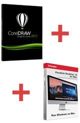CorelDRAW 2017 + Parallels Desktop 13