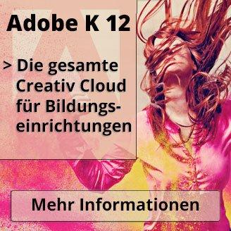 Adobe Creative Cloud K-12 für Schüler, Lehrer und Studenten