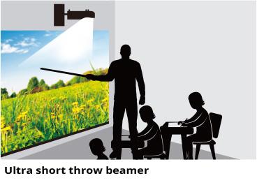 Educatieve ultra short throw beamers