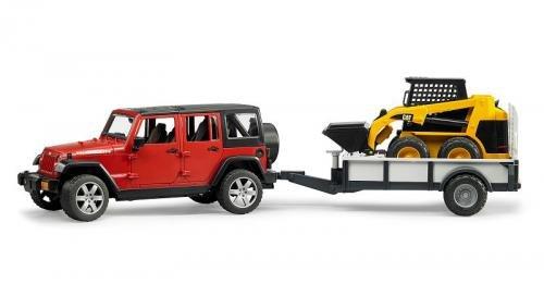 Bruder Bruder Jeep Wrangler Unlimited Rubicon met CAT lader