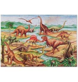 Melissa & Doug Melissa & Doug Vloerpuzzel Dinosaurs 48-st