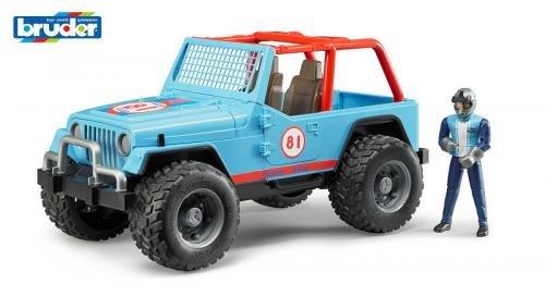 Bruder Bruder Jeep Cross Country blauw met chauffeur
