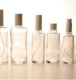 Ronde glas fles 100 ml., met sprayverstuiver