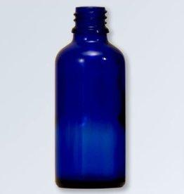 Blauwglas flesje 10 ml., DIN 18 (zonder dop)