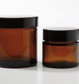 glazen pot bruin 60 ml.