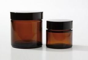 glazen pot bruin 30 ml.
