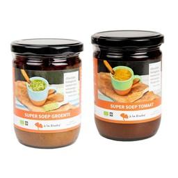 à la Rineke Aanbieding: Super Soep - 1 x tomaat & 1 x groente