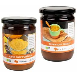 à la Rineke Aanbieding: Super Soep - 1 x tomaat & 1 x pompoen