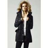 Urban Classics Ladies Leather Imitation Sleeve Parka