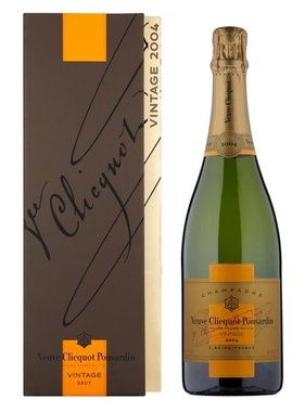 Veuve Clicquot Ponsardin Brut Vintage 2004 in giftbox 75CL