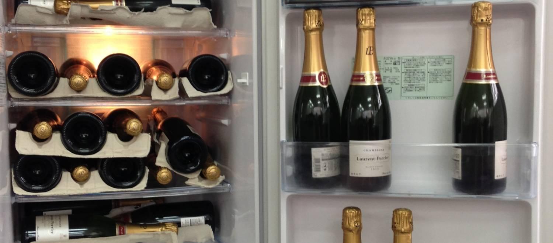 Champagne in de koelkast, mag dat?