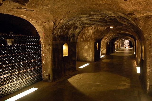 Champagne kelders Moet & Chandon
