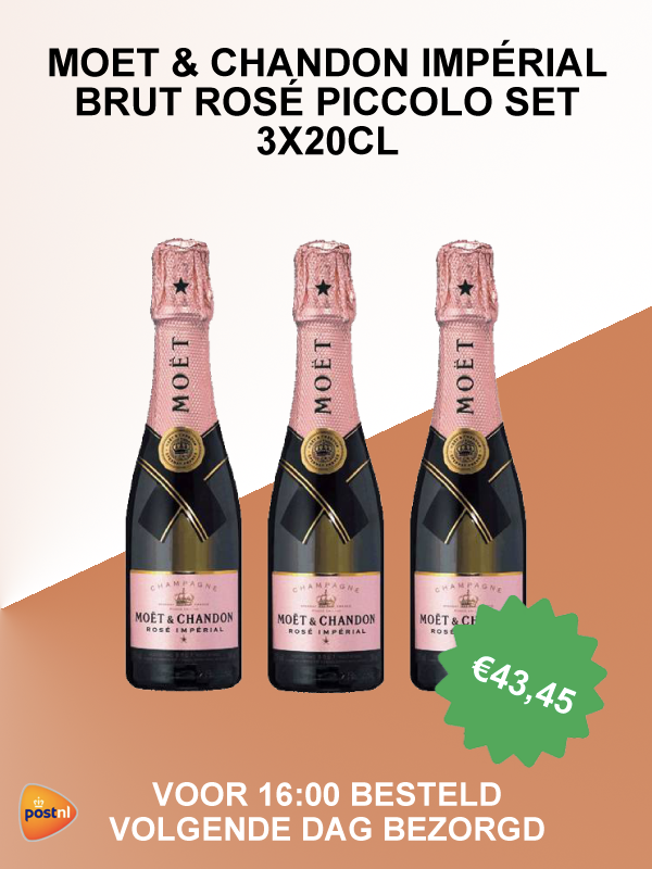 Moët & Chandon piccolo rosé set