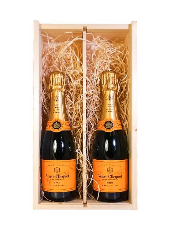 Veuve Clicquot Ponsardin Veuve Clicquot Ponsardin Geschenkset Houten Kist 2x37,5CL