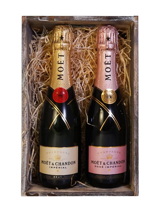 Moët & Chandon Moët & Chandon Geschenkset Kratje Brut & Rosé 2x37.5CL