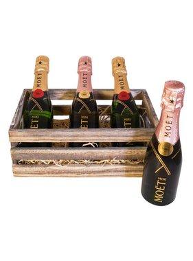 Moët & Chandon Geschenkkratje 3 x Mini Brut & Rosé