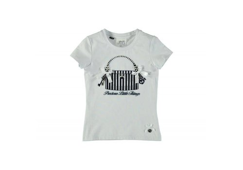 Le Chic T-shirt white- blue navy