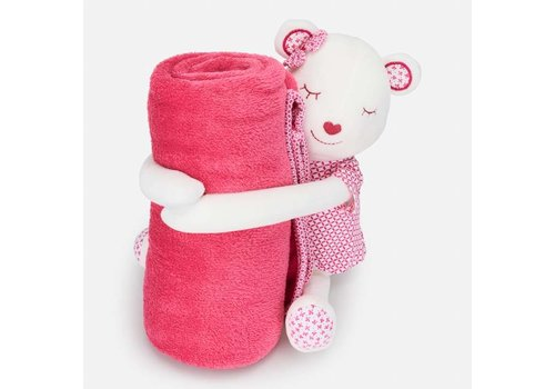 Mayoral Crib blanket with stuffed toy