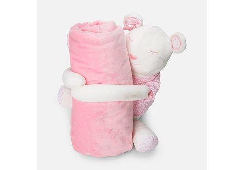 Mayoral Soft crib blanket with Cuddle
