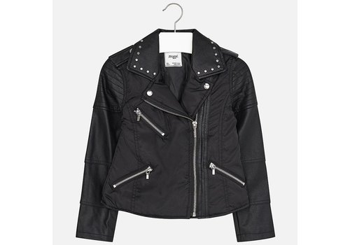 Mayoral Kunstleder-Jacke mit Reißverschluss Mädchen