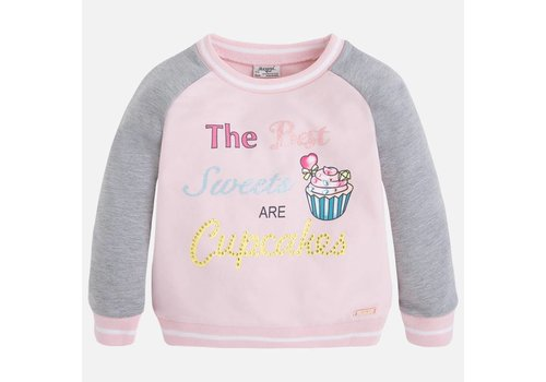 Mayoral Fleece Trui met Print Girl