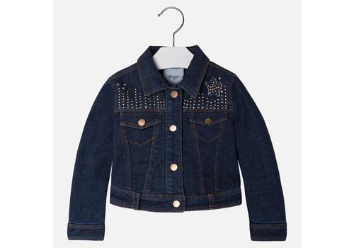 Mayoral Denim Jacket met Strass Girl