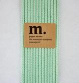 Masonjar Label 004 Papieren rietjes Quatrefoil Mint Green