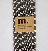 Masonjar Label 006 Papieren rietjes Black Dot