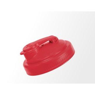 reCAP reCAP Mason Jar - Wide Mouth RED