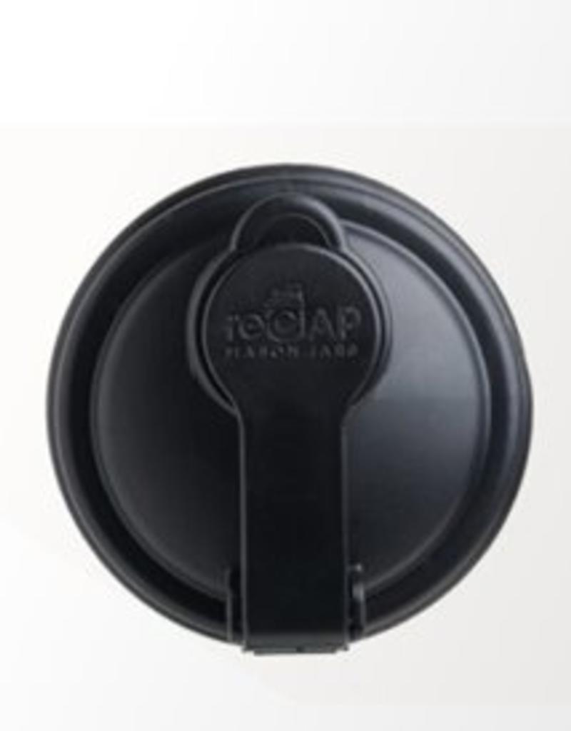 reCAP reCAP Mason Jar - Regular Mouth BLACK