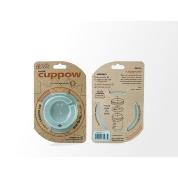 Cuppow wide mouth mintgroen