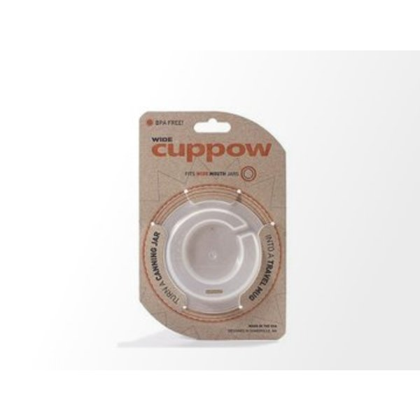 Cuppow wide mouth clear