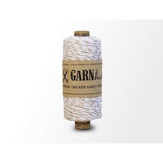 Garn Bäcker-garn Gold - white