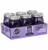 Ball Ball heritage Purple collection pint (16oz) 6 pieces