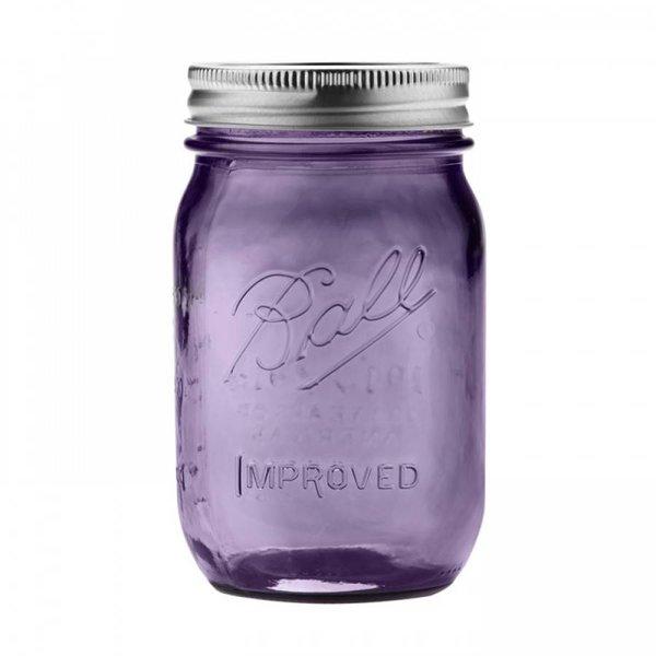 Ball heritage Purple collection pint (16oz) 6 stuks