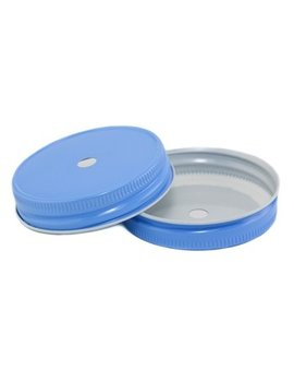 Masonjar Mason Jar regular straw deksel sky blue