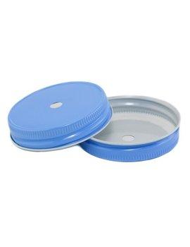 Masonjar Mason Jar regular straw hole lid sky blue