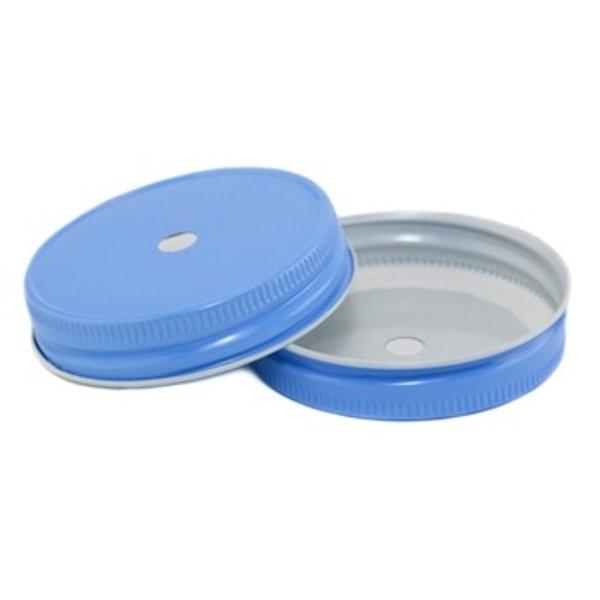 Mason Jar regular straw deksel sky blue