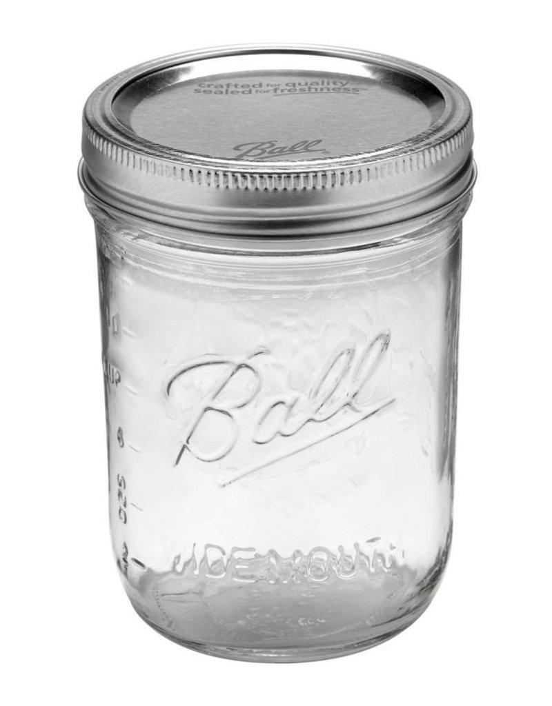 Ball Ball pint jar wide mouth (16oz) 12 pieces
