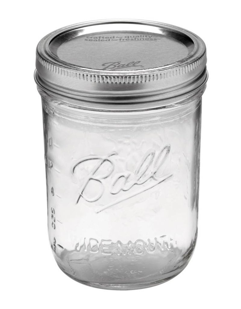 Ball Ball pint jar wide mouth (16oz) | 12 stuks