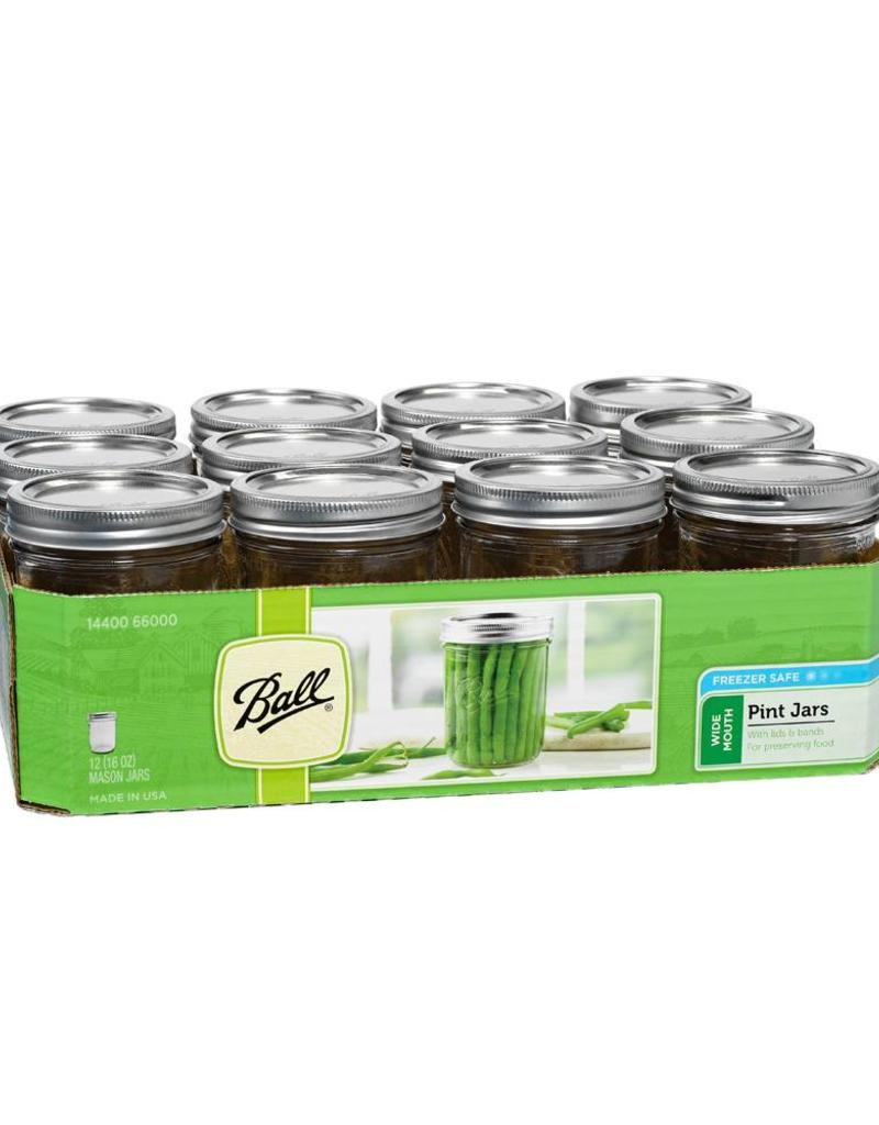 Ball 16 oz Mason Jars Wide Mouth