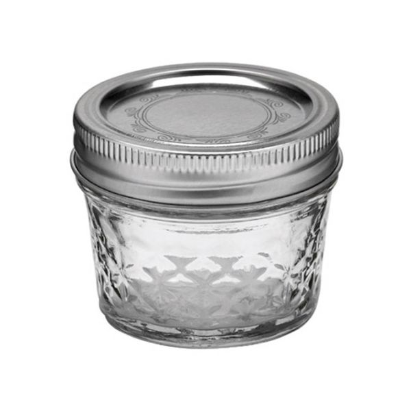 Ball quilted crystal jelly regular mouth (4oz) 12 pieces