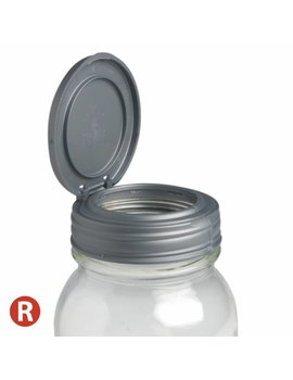 reCAP reCAP Mason Jar FLIP - Regular Mouth SILVER