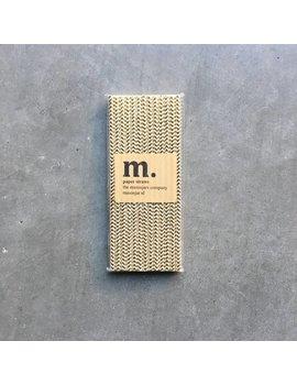 Masonjar Label 048 Papieren rietjes Golden Chevron Folie