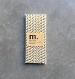 Masonjar Label 050 Paper straws Golden stripe Folie