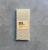 Masonjar Label 050 Papieren rietjes Golden stripe Folie