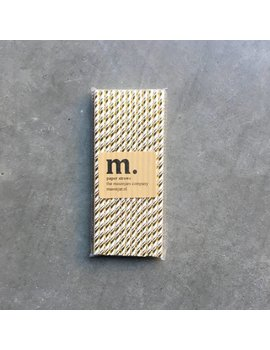 Masonjar Label 050 Paper straws Golden stripe Folie