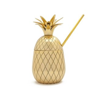 W&P Design Cocktail Tumbler Pineapple GOLD 16oz