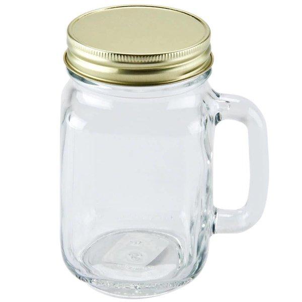 Mason Jar regular lid gold